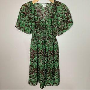 Sundance NWT silk green midi dress